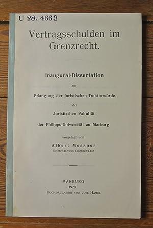 Vertragsschulden im Grenzrecht / Albert Messner U: Messer, Albert: