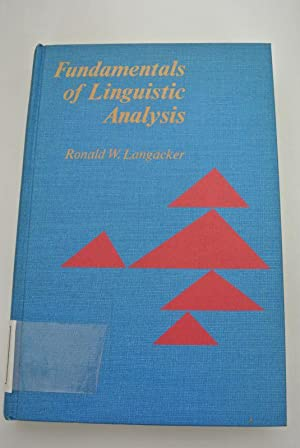 Fundamentals of Linguistic Analysis.