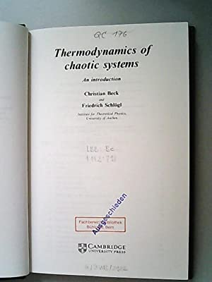 Thermodynamics of Chaotic Systems: An Introduction (Cambridge Nonlinear Science Series, Band 4)
