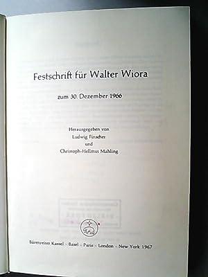 Festschrift für Walter Wiora.: Finscher, Ludwig und