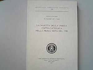 La nascita della Chiesa copto-cattolica nella prima: Colombo, Angelo,