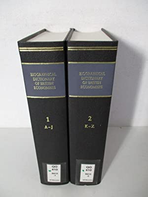 The Biographical Dictionary of British Economists. (2 Bände / 2 vol. set)