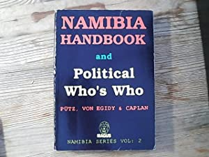 Namibia handbook and political who's who. (Namibia series, Vol. 2).