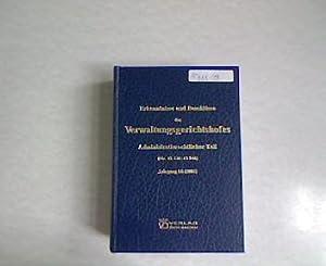 Erkenntnisse und Beschlüsse des Verwaltungsgerichtshofes. Administrativrechtlicher Teil, ...