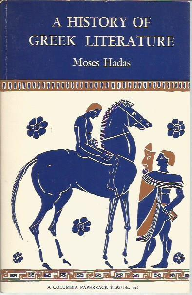 Hadas History of Greek Lit cover