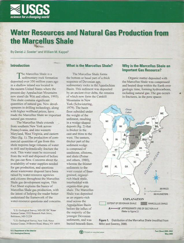 Water resources and natural gas production