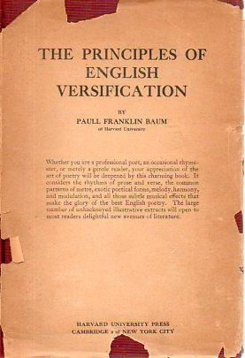 The Principles of English Versificiation: Baum, Paull Franklin