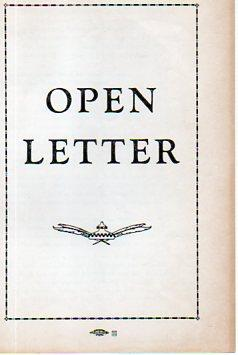 Open Letter, To: Their Excellencies: The Most Reverend Bishops: Grochowski, Most Rev. Leon