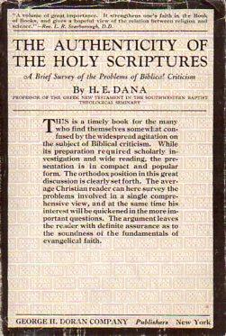 The Authenticity of the Holy Scriptures: A Brief Story of the Problems of Historical Criticism: ...