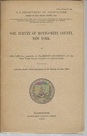 Soil Survey of Montgomery County, New York (1909): Lee, Ora; Lounsbury, Clarence