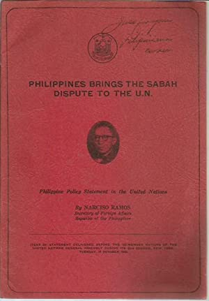 Philippines Brings the Sabah Dispute to the: Ramos, Narcisco
