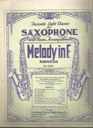 Melody in F (Favorite Light Classics for: Rubinstein, Anton; Calvin