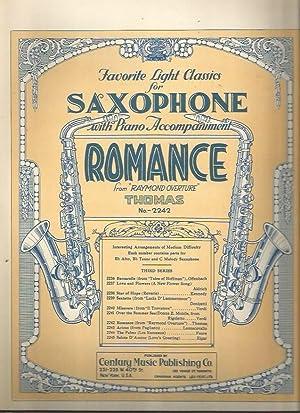 "Romance, from ""Raymond Overture"" (Favorite Light Classics for Saxophone No. 2242): Thomas, ..."