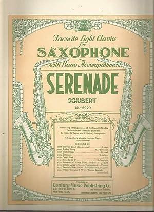Serenade (Favorite Light Classics for Saxophone No. 2229): Schubert, Franz; Calvin Grooms (arr.)
