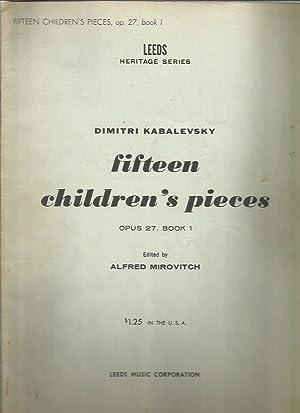 Fifteen Children's Pieces Op. 27, No. 1: Kabalevsky, Dmitri; Alfred
