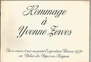 Hommage à Yvonne Zervos qui a conçu et mis au point l'exposition Picasso 1970 au Palais des ...
