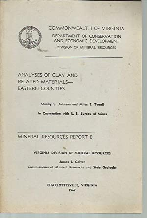 Analyses of Clay and Related Materials - Eastern Counties (Mineral Resources Report 8): Stanley S ...