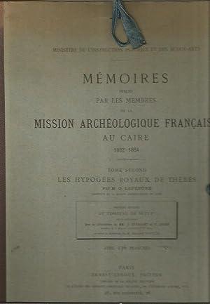 Memoires Publies par les Membres de la Mission Archeologique Francaise au Caire 1882-1884: Tome ...