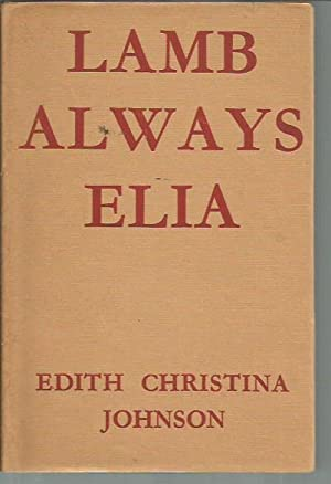Lamb Always Elia (signed): Johnson, Edith Christina