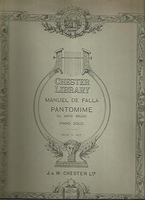 Pantomime: Tiree du Ballet El Amor Brujo (Piano Solo): Manuel de Falla
