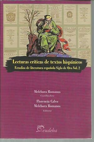 Lecturas criticas de textos Hispanicos (Estudios de: Melchora Romanos; Florencia