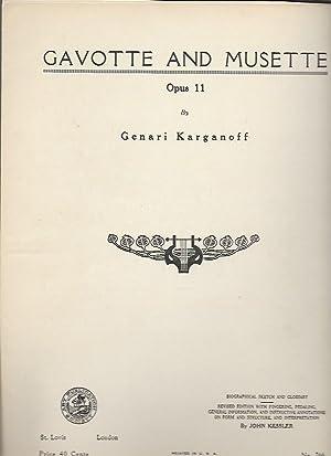 Gavotte and Musette, Opus 11 (Art Publication: Karganoff, Genari; John