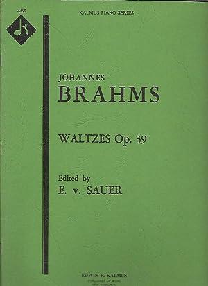Waltzes, Op. 39 (Kalmus Piano Series 3263): Brahms, Johannes; E.