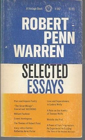 Selected Essays: Warren, Robert Penn