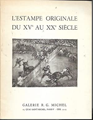 D'estampes Originales Du Xve Au Xxe Siecle/: Galerie R. G.