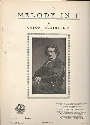 Melody in F (Art Publication Society No.: Anton Rubinstein w.