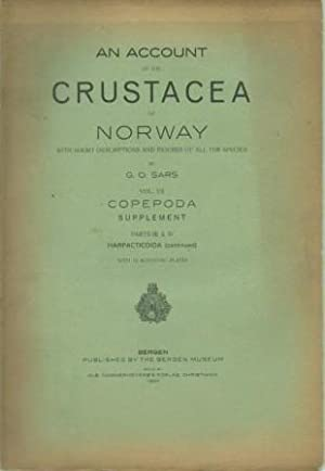 An Account of the Crustacea of Norway, with Short Descritions and Figures of All the Species, Vol. ...