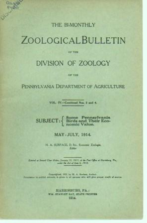 Some Pennsylvania Birds and Their Economic Value: The Bi-Monthly Zoological Builletin of the ...
