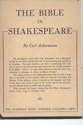 The Bible in Shakespeare: Ackermann, Carl