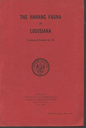 The Harang Fauna of Louisiana: Pope, David E.; Smith, D. Jeter
