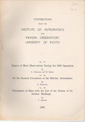 Contributions from the Instiitute of Astrophysics and Kwasan Observatory, University of Kyoto, Nos....