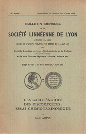 Les Carotenoides Des Discomyctes: Essai Chimiotaxinomique (Bulletin Menseul De La Societe Linneenne...