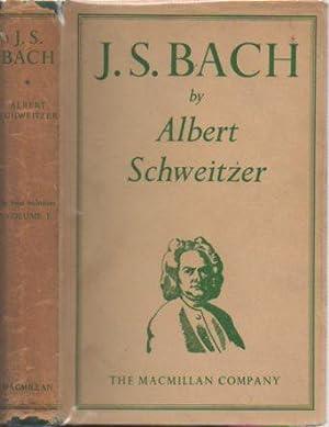 J. S. Bach (Two Volumes, 1952): Schweitzer, Albert