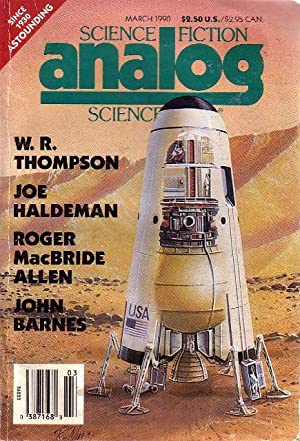 ANALOG: Science Fiction/ Science Fact: March, 1990. Vol. CX (110), No. 4.