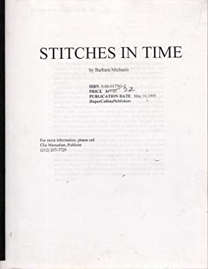 STITCHES IN TIME.: Michaels, Barbara (pseudonym for Barbara Mertz aka Babara Peters)