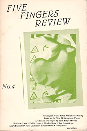 FIVE FINGER REVIEW: No.4, 1986.: Laux, Dorianne and Kevin Killian, signed. Addonizio, Kim and Lisa ...