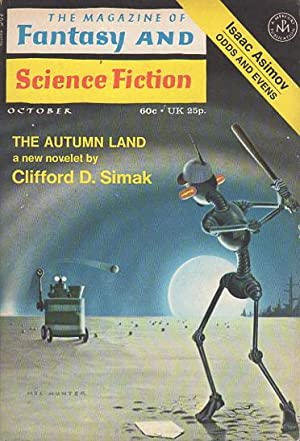 THE MAGAZINE OF FANTASY & SCIENCE FICTION, October 1971, Volume 41, No 4.