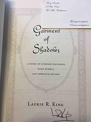 GARMENT OF SHADOWS.: King, Laurie R.