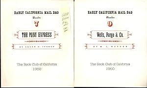 EARLY CALIFORNIA MAIL BAG: Book Club of California Keepsake Series, 1960, No. 7 through 12 (6 ...