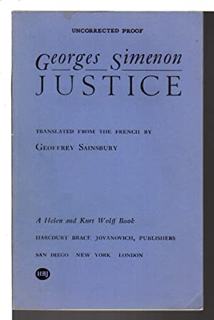 JUSTICE.: Simenon.Georges.