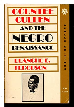 COUNTEE CULLEN AND THE NEGRO RENAISSANCE.