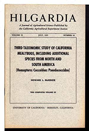 Third Taxonomic Study of California Mealybugs, Including: McKenzie, Howard L.