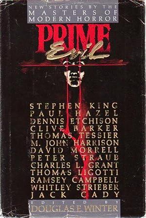 PRIME EVIL.: Anthology, signed[ Winter, Douglas E, editor. David Morrell, Dennis Etchison and Peter...