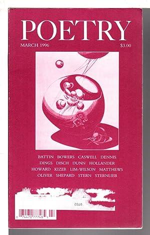 POETRY, Volume 167 (CLXVII) Number 6, March: Parisi, Joseph, editor.