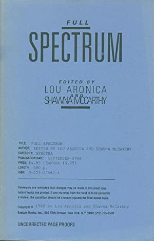 FULL SPECTRUM.: [Anthology, signed] Aronica, Lou and Shawna McCarthy, editors; signed by Lisa ...