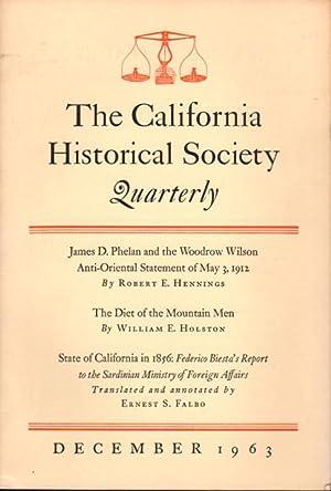 CALIFORNIA HISTORICAL SOCIETY QUARTERLY, Vol. XLII (42),: Servin,Manuel P. Editor